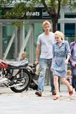Dakota Fanning and Boyd Holbrook on the set...