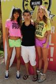 Joe Jonas, models Chanel Iman and Elsa Hosk...
