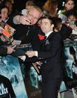 Daniel Radcliffe at the premiere of The woman...