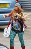 Jesy Nelson arriving at rehearsals for the X...