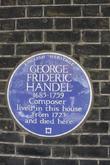 Jimi Hendrix and Georg Frideric Handel Blue Plaque