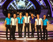 Michael Vaughan, Phil Tufnell, Pasha Kovalev, Louis Smith, Robin Windsor, James Jordan and Artem Cingvintsev