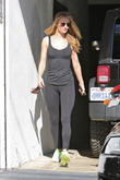 Rosie Huntington Whiteley seen leaving the gym