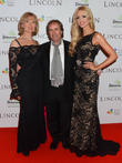 Chris De Burgh, Diane Davison and Rosanna Davison