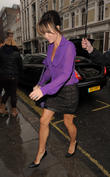 Amanda Holden leaving her hotel