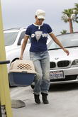 Halle Berry is seen taking her pet cat to the vet