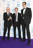 Paul O'Grady, Alexander Armstrong and Richard Osman