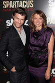 Liam Mcintyre and Lucy Lawless