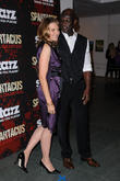 Lucy Lawless and Peter Mensah