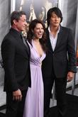 Sylvseter Stallone, Sarah Shahi and Sung Kang