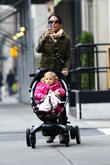 Bethenny Frankel is seen out with baby Bryn Hoppy