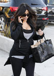 Kim Kardashian leaves the Andy Lecompte Salon in West Hollywood
