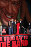 (L-R) John Moore, Jai Courtney, Bruce Willis, Yuliya Snigir, Radivoje Bukvic, 20th Century Fox Studios