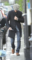 David Beckham seen out in Kensington
