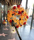 Flowers Left On The Andrews Sisters Star On The Hollywood Walk Of Fame