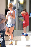 Britney Spears is  spotted leaving a