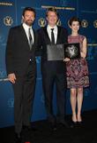 Hugh Jackman, Tom Hooper and Anne Hathaway