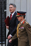 Defence Secretary Philip Hammond, General Sir David Richards and Chief of the Defence Staff