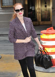 Jessica Chastain arriving for the matinee performance of 'The Heiress' at the Walter Kerr Theatre