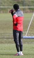 David Beckham football training