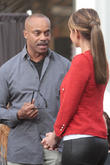 Rocky Carroll and Maria Menounos