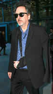Tim Burton seen arriving at Heathrow Airport