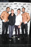 Lance Bass visits  Chippendales Theater