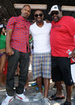 Jamie Foxx, Cedric the Entertainer, DJ Irie,  Lummus Park