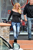 Britney Spears seen leaving a spa in Westlake Village