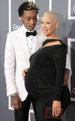 Wiz Khalifa, Amber Rose, Staples Center, Grammy Awards