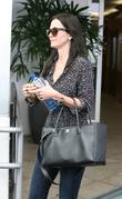 Courteney Cox leaving E Baldi restaurant