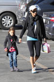 Halle Berry takes her daughter Nahla Aubry to school