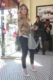 Hilary Duff is seen heading to Crumbs cupcake store