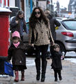 myleene klass walks daughters ava and hero to schoo 120213