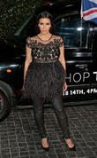 Kim Kardashian Nude Dress Steals Show At Topshop Opening, Los Angeles