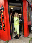 Rita Ora visits Flamin Eight Tattoo Studio