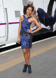 Naomie Harris unveils the Skyfall train at Kings Cross station