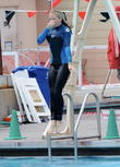 Kendra Wilikinson seen at diving practice