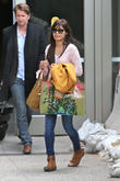 Freida Pinto is seen arriving at LAX Airport from London.