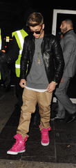 Justin Bieber leaving BLC nightclub