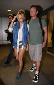 Pamela Anderson and her boyfriend Jesus Villa seen arriving at LAX airport