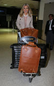 Mollie King seen arriving at LAX airport