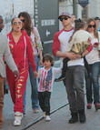 Jennifer Lopez, Maximilian Anthony, Emme Anthony and Casper Smart
