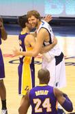 Steve Nash, Dirk Novitzki and Kobe Bryant