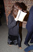 Victoria Beckham arrives at St Pancras International station