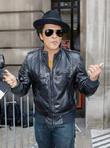 Bruno Mars outside  BBC Radio 2