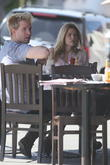 Sophie Monk and a male friend out for breakfast in West Hollywood