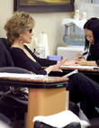 Jane Fonda At A Nail Salon