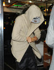 Justin Bieber stops at Middle Eastern kebab restaurant 'Shishawi', closely guarded by his security