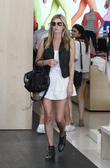 Nicky Hilton seen wearing an edgy outfit while shopping Beverly Hills